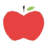 イラストレーターで作成のリンゴのイラスト